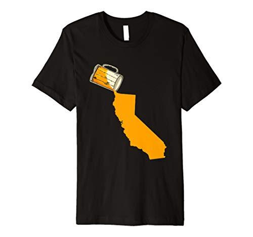 (I love Beer Karte von Kalifornien Funny USA Patriotismus T-Shirt)