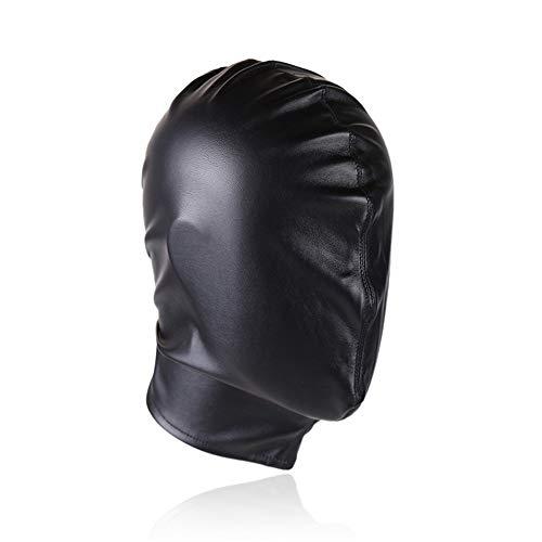 Mit Kapuze Kopf Schwarze Maske Haube Augenmaske Kontrolle Strafe verbindliche männliche und weibliche Hund Sklavin ()