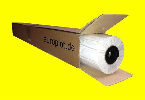(0,29€/m²) Plotterpapier 1 Rolle   80g/m², 91,4cm (914mm) breit, 50m lang, CAD, A0 unbeschichtet
