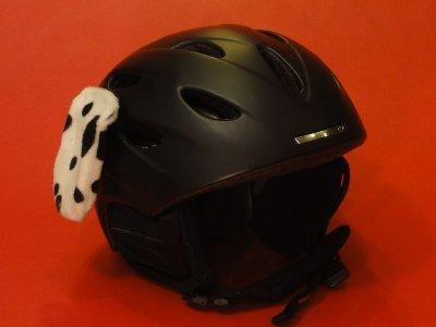 """Helm - Ohren """"Dalmatiner-Hund"""" für den Skihelm, Snowboardhelm , Motorradhelm oder Fahrradhelm - Coole Helmdeko / Tierohren!"""