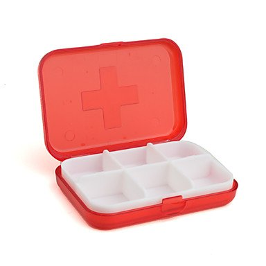 Preisvergleich Produktbild Lozse 6 Fächern Pillendose Schmuckstück Fall Medizin Reiseveranstalter