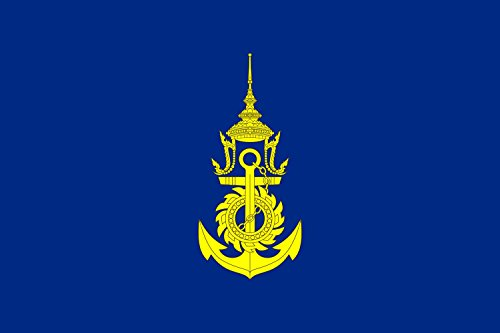 magFlags Flagge: Large for Commander-in-Chief of The Royal Thai Navy | for Commander-in-Chief of Royal Thai Navy | Querformat Fahne | 1.35m² | 90x150cm » Fahne 100% Made in Germany