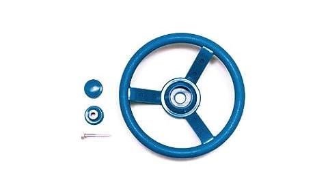 Spielzeug Lenkrad aus Kunststoff für Spielanlagen in der Farbe blau inkl. Montagematerial