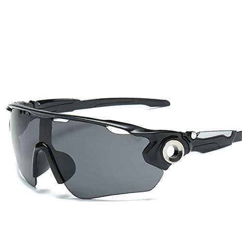 Easy Go Shopping UV-Sonnenbrille Männer und Frauen Sport-Sonnenbrille Outdoor-Radfahren Multi-Welten und Brillen Sonnenbrillen und Flacher Spiegel (Farbe : Schwarz)