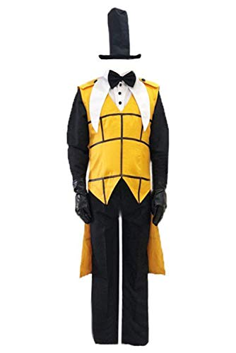 MingoTor Gravity Falls Bill Cipher Bill and Will Outfit Cosplay Kostüm Herren XS