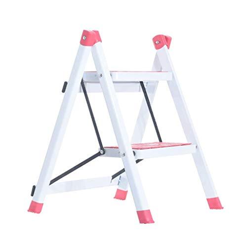 RMXMY Haushalt Multifunktions Klappleiter Zwei Stufen Leiter Farbe Leiter Herringbone Küche liefert Leiter Pedale aufsteigende Haustier Leiter (Farbe : D)