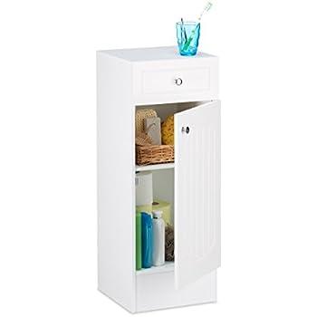 Relaxdays badschrank holz kleiner badezimmerschrank mit schublade lamellen design hbt 80 x - Kleiner badezimmerschrank ...