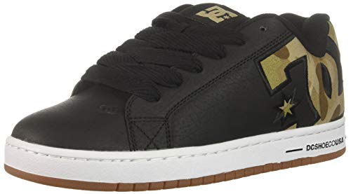 Camo Leder Skate Schuhe (DC Herren Court Graffik SE Black/Military Camo 50 EU M)