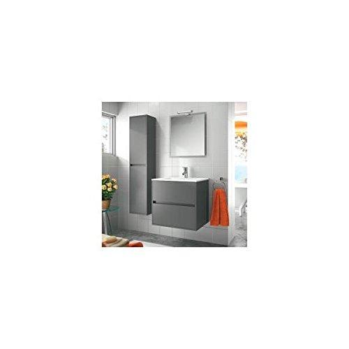 Salgar noja 600 - Mueble noja 600/gris +lavabo porcelana