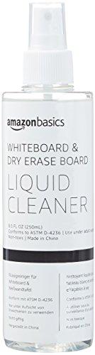 AmazonBasics - Reinigungsspray für trocken abwischbare Whiteboards, 250 ml (12 Stück)