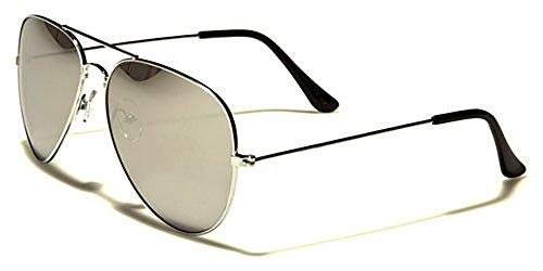 Air Force Herren Sonnenbrillen - Pilotenbrille - Radfahren - UV400 Silber