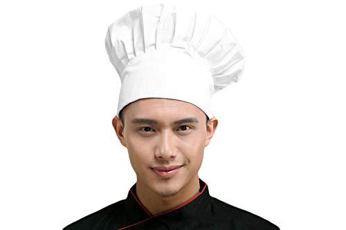 Kostüm Mann Bäcker - Verstellbare elastische Küche Kochen Kochmütze Chef Hüte Chef Cap Baumwolle Restaurant Hotel Cook Cap Bäcker Mütze Koch Arbeitskleidung Profimütze