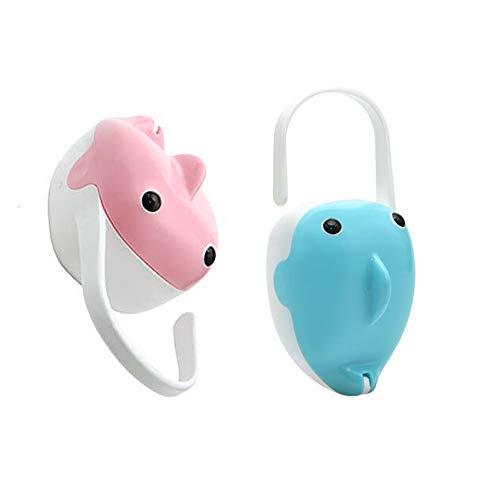 Domire 2 Stück Baby Schnuller-Organisator-Kasten beweglichen Baby-Staubdichtes Schnullerbox Multi-Funktions-Pacifier-Speicher-Fall Baby Supplies Zubehör Blau und Pink