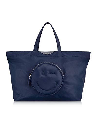 Anya Hindmarch Damen 117661 Blau Polyamid Handtaschen -