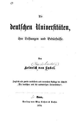 Die deutschen Universitäten