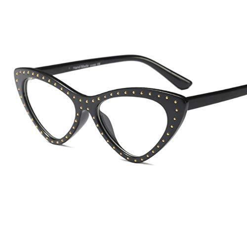 MOJINGYAN Sonnenbrillen Cat Eye Brille Frame Frauen Lesen Brillen Von Gefälschten Frau Transparentes Dreieck Brillenfassungen Für Frauen Klar, Mit Einem Computer