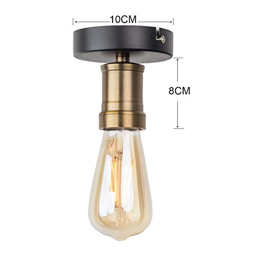 LED de luz de la jaula de hierro de época moderna techo de la ...