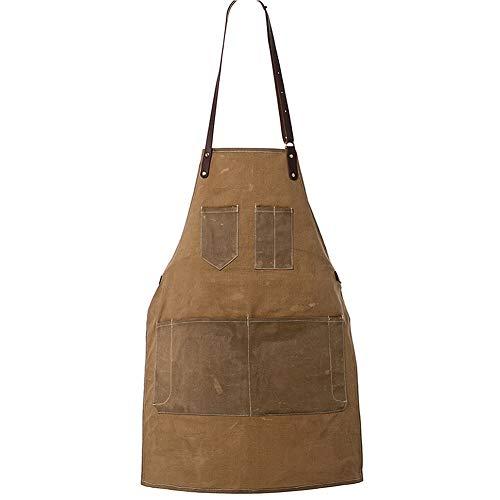 Delantal lona encerada unisex 7 bolsillos cocina