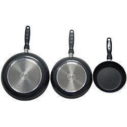 Gourmet Chef Professional Heavy-duty Nonstick Fry Pans Jl-combo(Black) by Gourmet Gourmet Non-stick Fry Pan