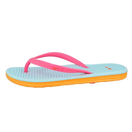 Nike Badelatschen Solarsoft Thong II (GS/PS) Unisex pink glow-atomic orange-glacier ice-atomic, 38,5