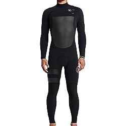 Hurley - Combinaison Surf Néoprène Intégrale 3/2 Homme Fusion 302 Fullsuit - Black C - Taille:l