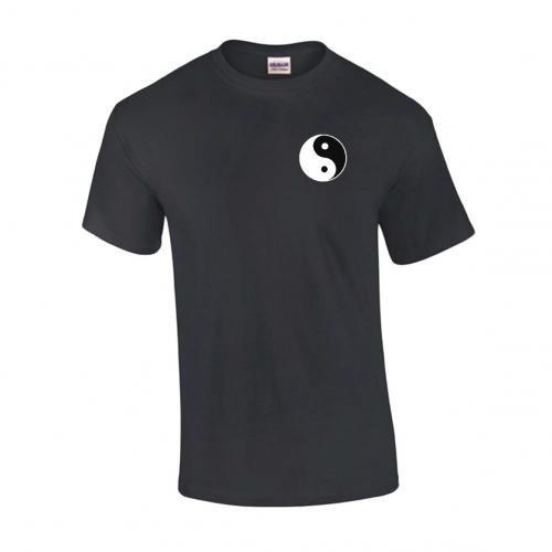 schweres Qualitäts T-Shirt Tai Chi / Ying Yang, Farbe schwarz, Gr. XL