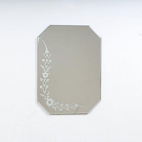 Quality Glass Glass And MDF Decorative Wall Mirror (18''x24, Silver, Asymmetric Shape) - B0798NHX7J