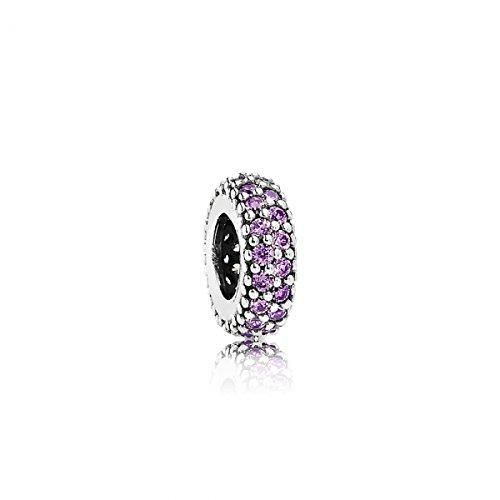 Pandora Damen-Bead-Zwischenelement Pavé-Inspiration 925 Silber Zirkonia lila - 791359CFP