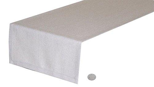 Tischläufer,Kuvertsaum,40x140cm silber, Farbe und Größe wählbar, Leinenoptik,tolle Struktur, natürliche Optik, weicher, stabiler Stoff, pflegeleicht,Wasser- und Schmutzabweisend
