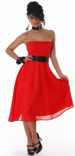JELA London - Robe - Sans manche - Femme Rouge - Rouge