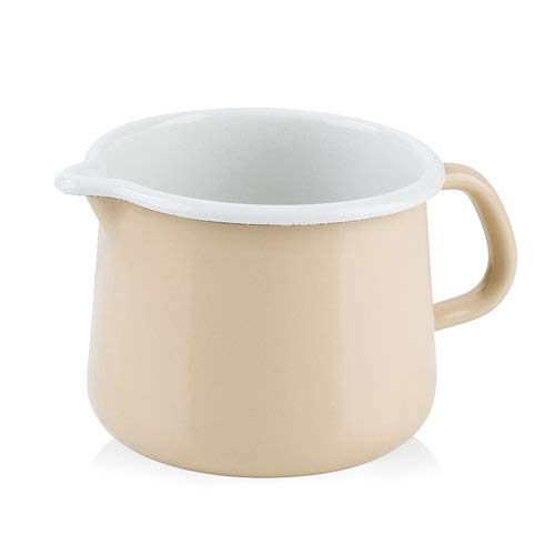 Riess 0672-038 Nouvelle - Cappuccino-Kanne, Durchmesser 12 cm, 1 l, Orange