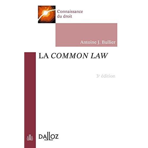 La common law - 3e éd.: Connaissance du droit
