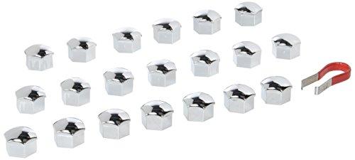 2241-20 Piece - Ø 17 mm Chrome capuchons des écrous, Cache-vis de roue bouchon de boulon protecteurs