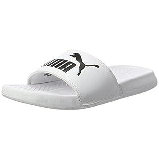 Puma Popcat, Unisex Adults' Slippers, White (White- Black), 5 UK (38 EU)