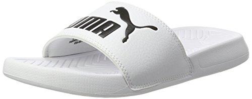 Puma 360265, ciabatte adulto unisex, bianco white black 12, 44.5 eu