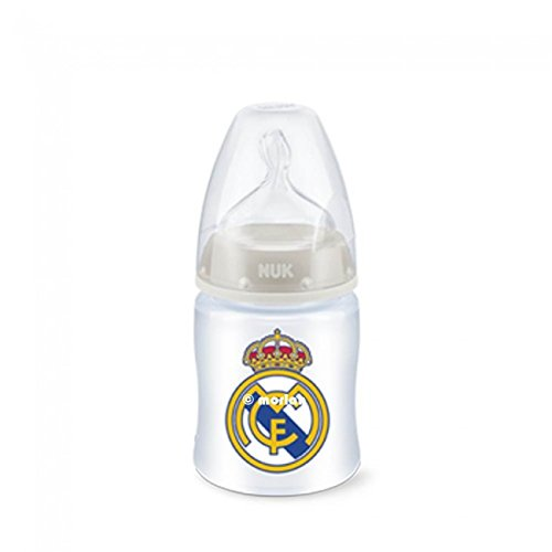 Nuk Biberón Plastico First Choice Real Madrid Tetina Silicona Talla M 0-6m, 150ml