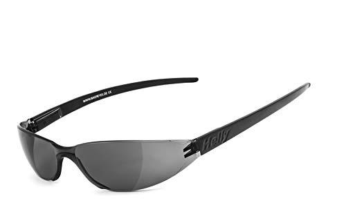 Helly Sonnenbrille Bikereyes Freeway 3.1 Brille smoke, Unisex, Casual/Fashion, Ganzjährig, Polycarbonat, schwarz, Einheitsgröße