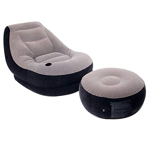 NUYI-2 Latex aufblasbare Sofa-Mittagspause einzeln 99 x 130 cm leichtes Grau - 99 Sofa