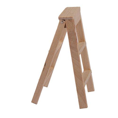 Scala 1:12 Mobili Scaletta Di Legno Miniatura per Casa delle Bambole