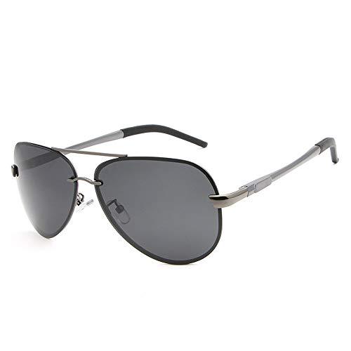 Gläser Brille Sonnenbrillen Männer Frauen Brille Fahrer Fahren Spiegel Polarisator Mode Sonnenbrillen Brillen (Color : Dark Sliver, Size : Kostenlos)