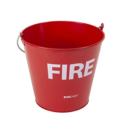 Firechief MFB1 Feuereimer, Metall, Rot