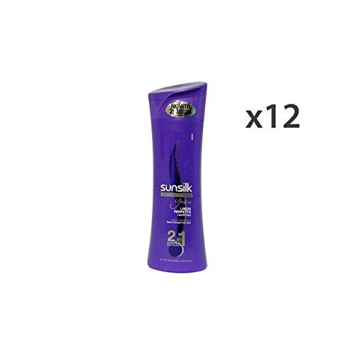 set-12-sunsilk-shampoo-2-1-liscio-perfetto-viola-250-ml-haarpflegeprodukte