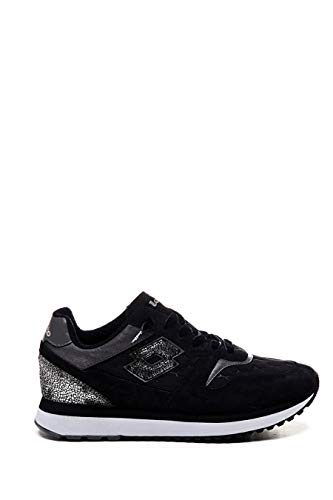 Lotto Slice Padded W Sneakers Nero Bianco T7434 (37 - Nero)