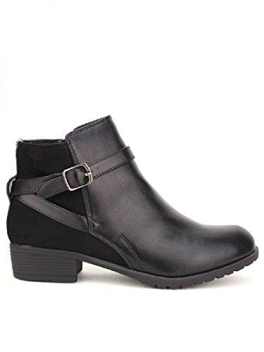 Cendriyon, Bottine Noire DAY VINE Chaussures Femme Noir
