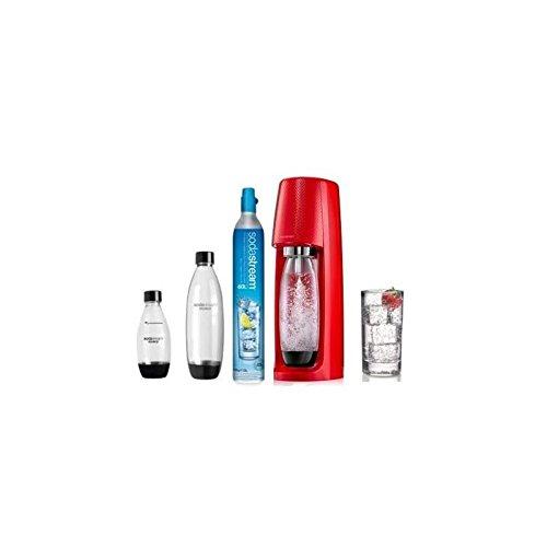 Sodastream - Spirit Mega-Pack rot - Wassersprudler mit 1 Zylinder und 3 Flaschen