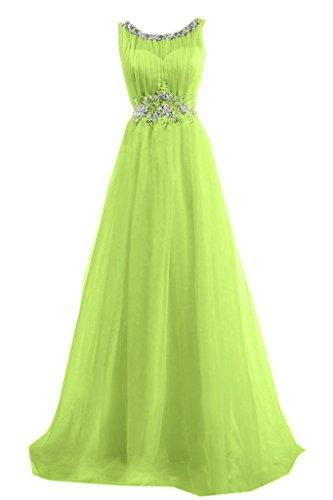 Toscana sposa alla moda rotondo colletto tulle stanotte vestimento lunga un'ampia Party ball abiti da sera mode Verde
