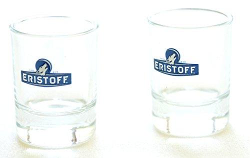 Eristoff Vodka Shot Gläser Set von 2 - Heavy Base Rocks Glas