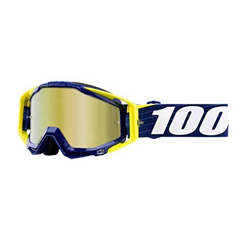 100% Racecraft Anti Fog Mirror Lunettes de Protection, bibal/Navy