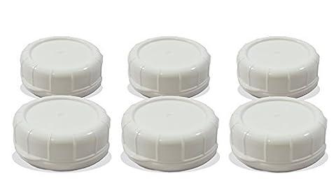 Bouteille de lait en verre de remplacement couvercles 48mm bouchons pour Libbey et Stan-pac blanc
