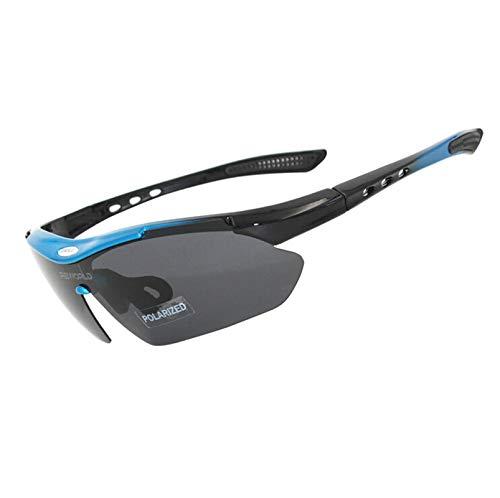 KnBoB Sportbrille Joggen Langlaufbrille Für Brillenträger Blau